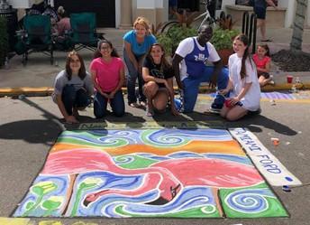 Naples Chalk Art Festival on 5th Avenue