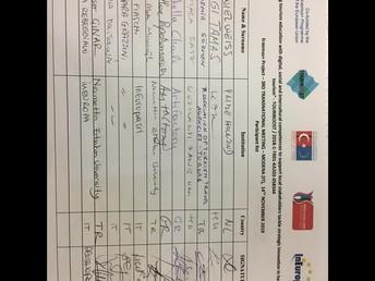signature list 14 November 2019