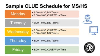 Sample Schedule for CLUE English