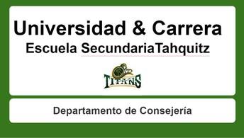 Presentación de Consejería, Universidad, y Presentación Profesional - Grados 10-12