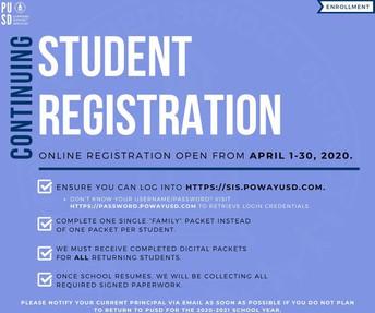 Continuing Student Online Registration - Deadline Extended!