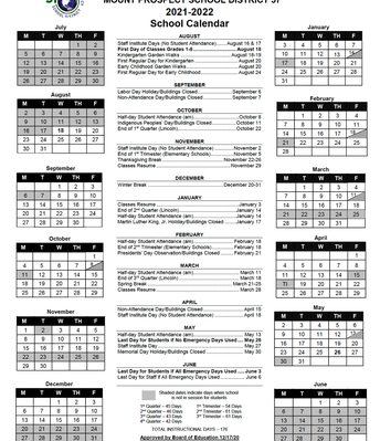 21/22 District 57 Calendar