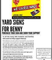 Yard Signs for Benny
