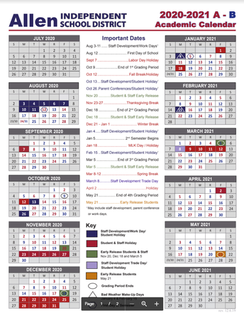 BELL SCHEDULE AND CALENDARS