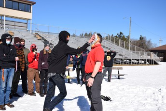 Principal Gets a Pie in the face!