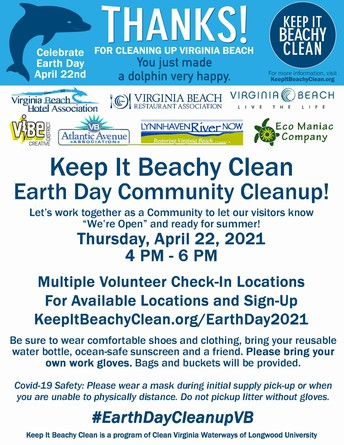 Keep It Beachy Clean  Earth Day Community Cleanup!