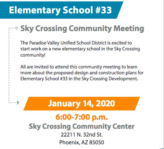 Elementary #33 Community Meeting Notice