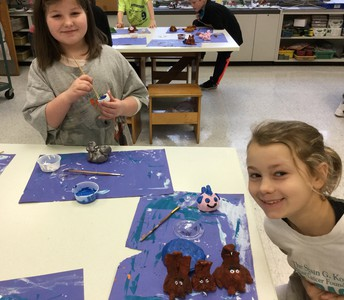 Fourth Grade Clay Creatures