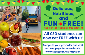 CSD 2020 Virtual Meal Service -FREE MEALS for ALL kids!