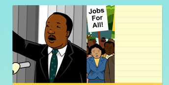 Martin Luther King Jr. Biography on Brain Pop Jr.