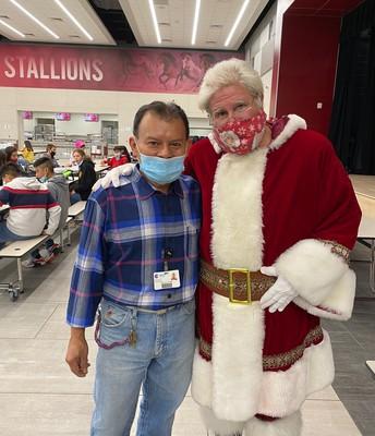 Santa & Mr. Manny