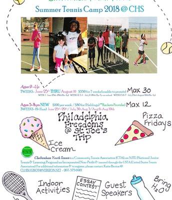 Summer Tennis Camp 2018