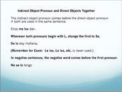 Indirect and Direct Object Pronouns Together