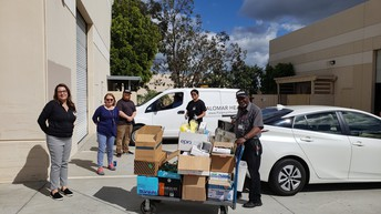 Adult School Classes Donate PPEs to Palomar Health
