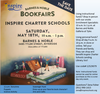 Inspire Charter School's Barnes & Noble Book Fair!