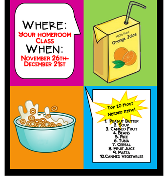 Dare to Care Food Drive--Nov 26th-Dec 21st