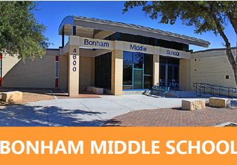 Bonham Middle School - Then and Now
