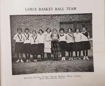 Girl's Basketball in 1922
