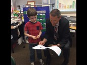 Visit from the superintendent