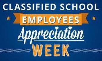 Classified School Employees Appreciation Week