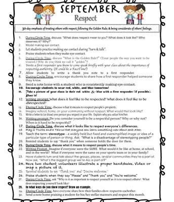 September Respect Challenge