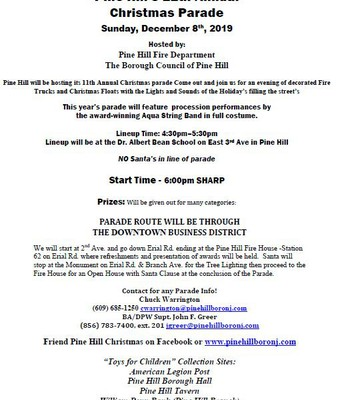 Pine Hill's 11th Annual Christmas Parade
