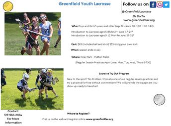 Lacrosse = Greenfield