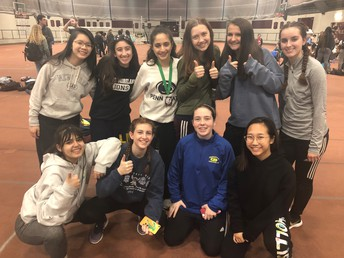2018 - 2019 Girls Indoor Track Team