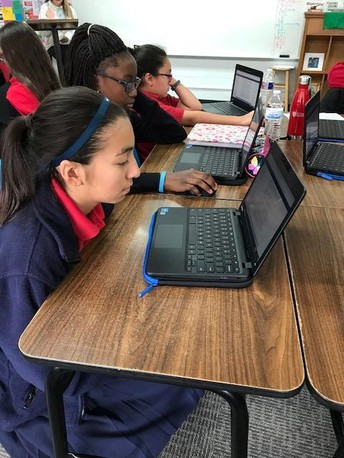 Middle School Scholars Learning with Chromebooks