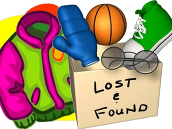 Thursday, February 14th last day to claim lost and found items.