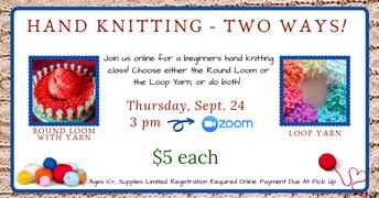 Hand Knitting - Two Ways