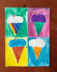 "Ice Cream ""Wahrol"" Inspired Painting:"