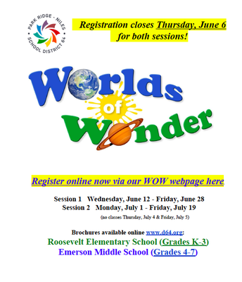 WOW! Summer Registration