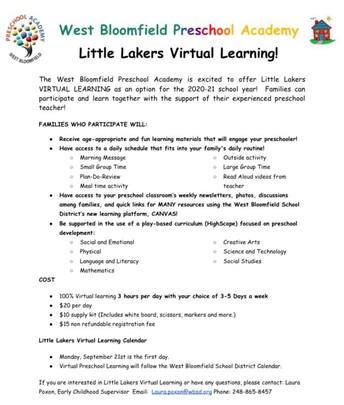 Little Lakers Virtual Preschool