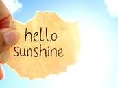 need some sunshine