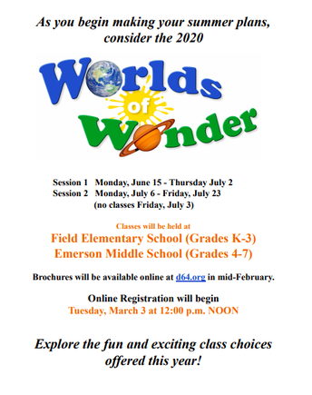 Summer school registration opens March 3