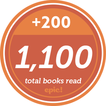 1st 9 wks 900 + 2nd 1,100 = 2000 total books we have read on EPIC!