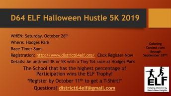 D664 ELF Halloween Hustle 5K Flyer