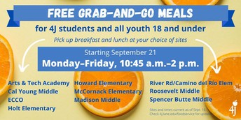 Pick-up sites for School Meals (breakfast, lunch, dinner)