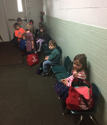 It's time to go home in preschool