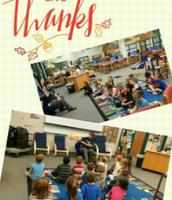 First Grade Story Time with Gobbles