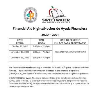 SUHSD Financial Aid Nights