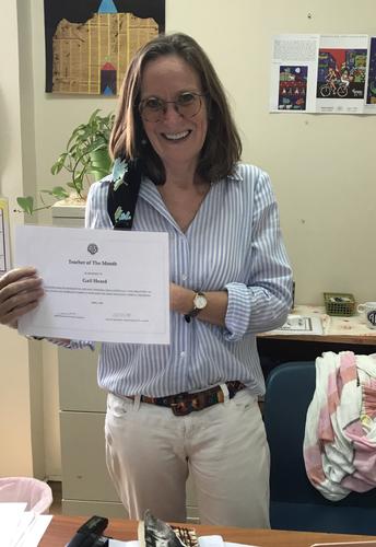 Teacher of the Month ---            Gail Heard