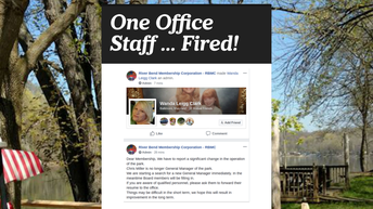 One Office Staff Fired