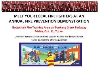 Cheltenham Fire Company Demonstration