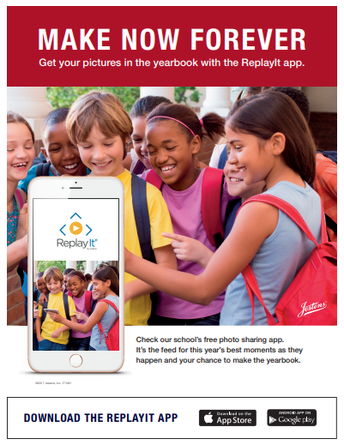 Parents- Get your pictures in the yearbook using the ReplayIt app!