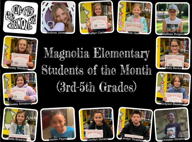 3rd grade - 5th grade students of the month