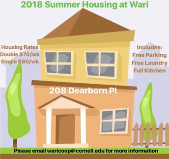 Wari Summer 2018 Housing!