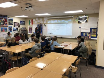 Spanish I students engage in language learning with Mrs. Hoesly