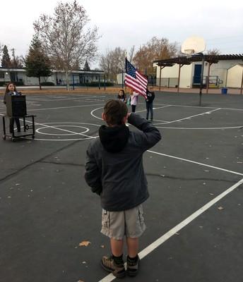 Morning Flag Salute